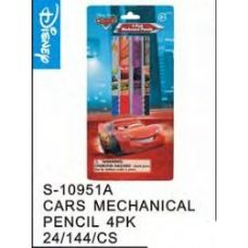 144 Units of Cars Mechanical Pencils 4pack - Licensed School Supplies