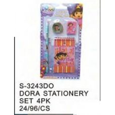 96 Units of Dora Stationery 4pc Set - Licensed School Supplies