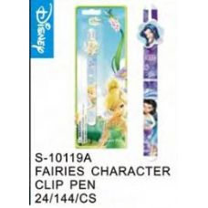 144 Units of Fairies Clip Pen - Licensed School Supplies