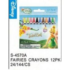 144 Units of Fairies Crayons - Licensed School Supplies