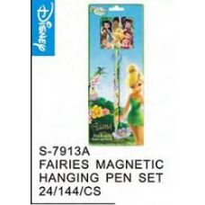 144 Units of Fairies Magnetic Hanging Pen - Licensed School Supplies