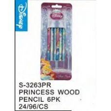 96 Units of Princess 6Pack Wood Pencils - Licensed School Supplies