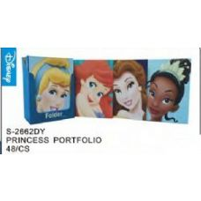 48 Units of Princess Folders - Licensed School Supplies