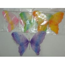 "144 Units of 12""x9"" Sheer Butterfly - Girls Toys"