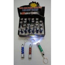 "288 Units of 2.5"" Mini Sparkle 5 LED Light Key Chain - Key Chains"