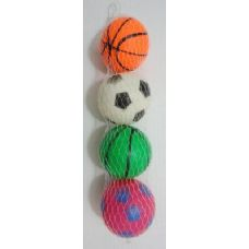 72 Units of 4pk Soft Sports Balls - Balls
