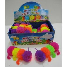 "288 Units of 5"" Rainbow Caterpillar Light Up Puffer Ball - GLOW N DARK ITEMS"