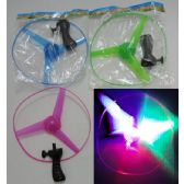 36 Units of 9.5 Inch Light Up Propellor [Rip Cord Handle] - Light Up Toys