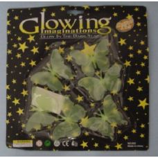72 Units of Glow in the Dark Butterflies-Clear - Glow In The Dark Items