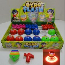144 Units of Gyro Flash Light & Sound Top - Glow In The Dark Items