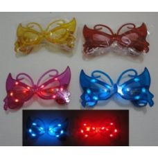 240 Units of Light Up Glasses-Butterfly - Novelty & Party Sunglasses
