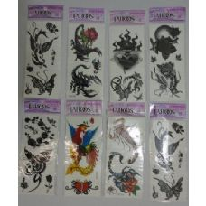 288 Units of Temporary Tattoos - Tattoos and Stickers