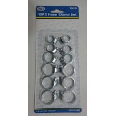 144 Units of 12pc Hose Clamp Set - Clamps
