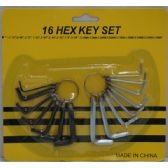 36 Units of 16pc Hex Key Set - Hex Keys