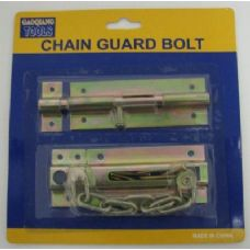 96 Units of 2pc Chain and Slide Guard Bolts - Padlocks/Combination Locks/Brass/Iron
