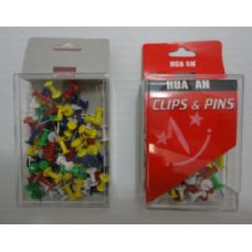 144 Units of 100pc Push Pins - Push Pins and Tacks