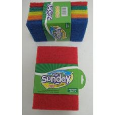 100 Units of 10pk Colored Scrubbers - Scouring Pads & Sponges