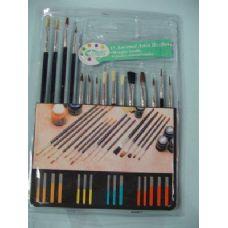 60 Units of Artist Paintbrushes 15 Piece Set - Paint, Brushes & Finger Paint