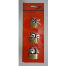 48 Units of 3pcs Small Padlock - Padlocks/Combination Locks/Brass/Iron