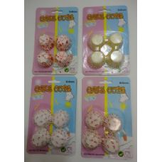 48 Units of 100pc Mini Printed Cup Cake Liners - Baking Supplies