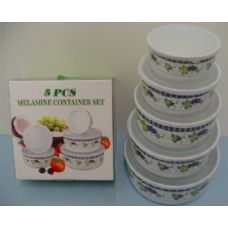 48 Units of 5pc Bowls with Lid-- Grape - Kitchenware
