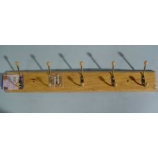 72 Units of Wooden Rack with 5 Hooks - Wall Decor