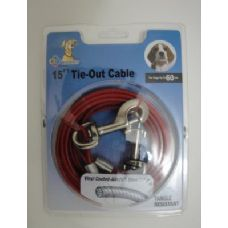 12 Units of 15' Dog Tie Out Cable - Pet Collars and Leashes