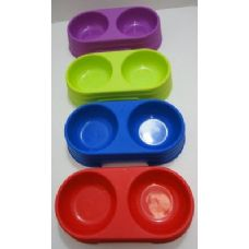 120 Units of Pet Food Dish-Assorted Colors - Pet Accessories