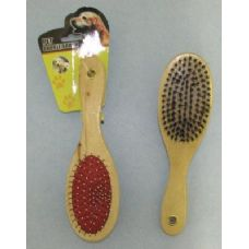 144 Units of Two Sided Pet Brush-Oval - Pet Grooming Supplies