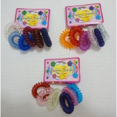 144 Units of 6pc Coil Hair Tie Back - Hair Accessories