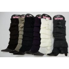 120 Units of Leg Warmers-3 PomPom - Arm / Leg Warmers