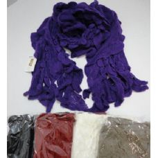 72 Units of Ruffle Knit Scarf - Winter Scarves