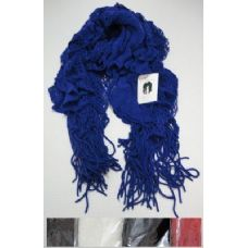 72 Units of Ruffle Scarf with Fringe - Winter Scarves