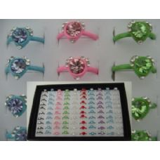 200 Units of Adjustable Ring-Heart Shaped with 7 Stones-Small - Rings