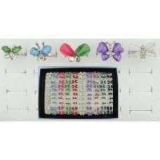 200 Units of Adjustable Rings-Butterfly Assortment - Rings