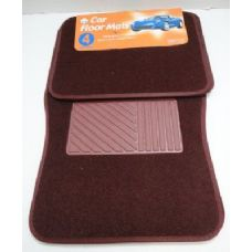 6 Units of 4pc Car Mats-Burgundy