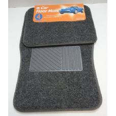6 Units of 4pc Car Mats-Dark Gray
