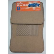 6 Units of 4pc Car Mats-Tan - Auto Sunshades and Mats