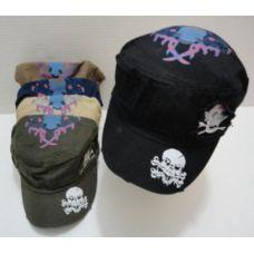 72 Units of Cloth Hat-Skull & Crossbones - Baseball Caps & Snap Backs