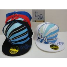 72 Units of Fitted Hat--LA with Bling - Baseball Caps & Snap Backs