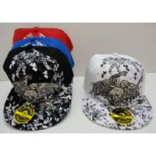 24 Units of Fitted Hat--Skeleton with Wings - Baseball Caps & Snap Backs