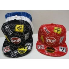 72 Units of Fitted Hat--Stop Sign - Baseball Caps & Snap Backs