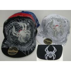 72 Units of Fitted Spider & Web Hat - Baseball Caps & Snap Backs