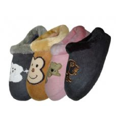 48 Units of Ladies Plush Slipper - Womens Slippers