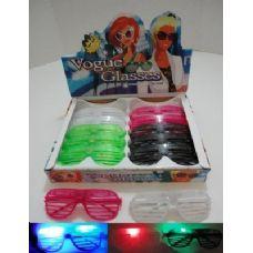 120 Units of Light Up Window Shade Glasses - Sunglasses