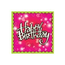 144 Units of Birthday Love Luncheon Napkins - 16CT. - Party Paper Goods