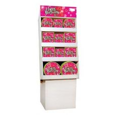 Birthday Love Pre-Packed Floor Shipper, 156 Ct. - Party Accessory Sets