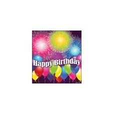 288 Units of Birthday Blast Beverage Napkins - 16CT. - Party Paper Goods