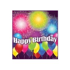 144 Units of Birthday Blast Luncheon Napkins - 16CT. - Party Paper Goods