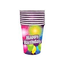 144 Units of Birthday Blast Cups - 8 CT - Party Paper Goods
